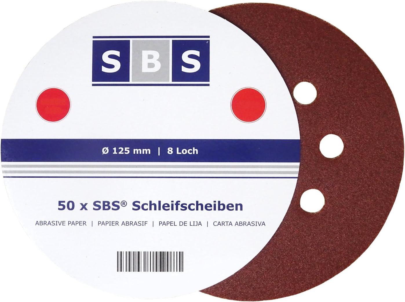 Schleifpapier je 5 x K/örnung 40//80// 120//180// 240//320// 400//800//1200//2000 50 St/ück Schleifbl/ätter Set f/ür Exzenterschleifer,Schwingschleifer von MAXMAN Klett-Schleifscheiben /Ø125 mm