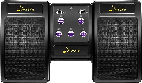Donner Pédale Tourne-page Bluetooth pour tablette rechargeable Noir