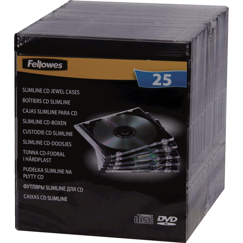 Fellowes 98316 - Pack de 25 Cajas Estuche para CDs/DVDs Slim ...