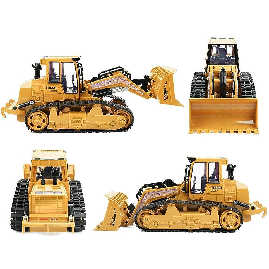 仮定する延ばすみなさん1/12 5チャンネルRCショベル用キッズ2.4Ghzリモートコントロールトラクター車のおもちゃ建設車両砂掘りキッズおもちゃ
