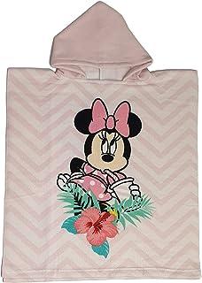 Disney Poncho Mickey Minnie Mouse con Capucha de Microfibra Ideal como Toalla de Playa o Piscina