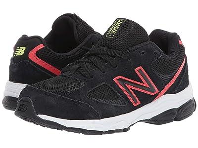 New Balance Kids PK888v2 (Little Kid) (Black/Neo Flame) Boys Shoes