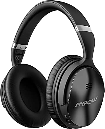 Mpow H5 Bluetooth Headphones Active Noise Cancelling, Superior Deep Bass & 30Hrs Playtime, ANC Over-Ear Wireless Headphones with Mic for PC/Cell Phone