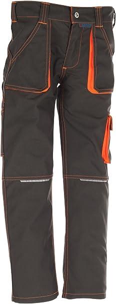 6112 Planam Junior Pantaloni alla zuava Oliva//Arancione