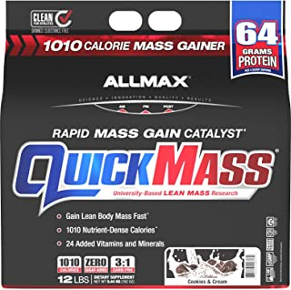 Sponsored Ad - ALLMAX Nutrition QuickMass Rapid Mass Gain Catalyst, Cookies & Cream, 12 Pound