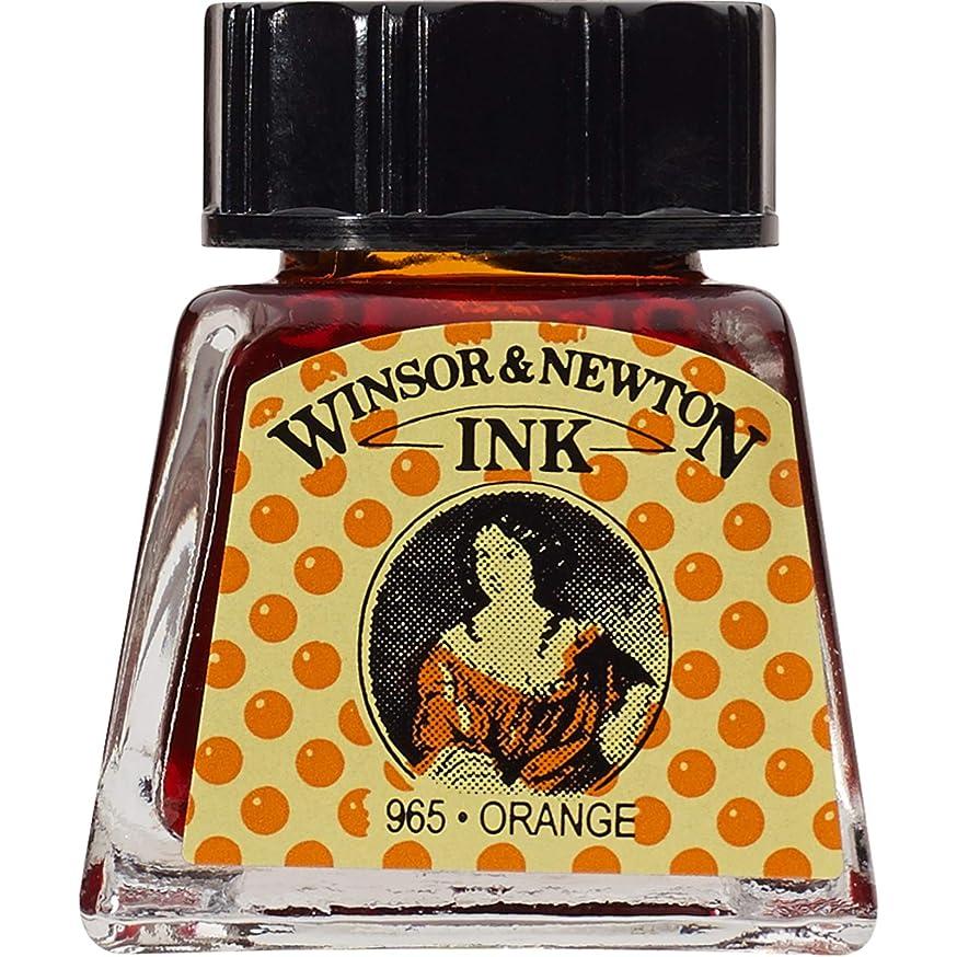 Winsor & Newton Drawing Ink Bottle, 14ml, Orange