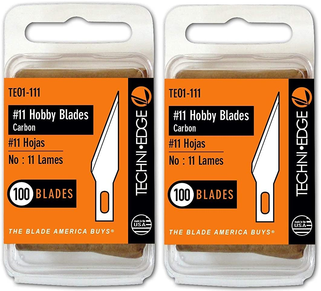 Techni Edge TE01-111 No. 11 Hobby Blades (2-(Pack))