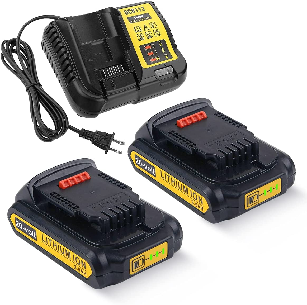 2Pack 20V 3.0Ah DCB205 Battery Charger 12V Louisville-Jefferson County SALENEW very popular! Mall Replac DCB112 and