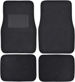 Motor Trend FatRug Carpet Floor Mats - Black - Thick Robust Auto Gear for Your Car Truck or SUV