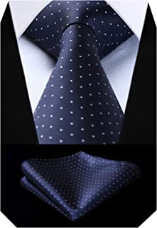 Men's Polka Dot Tie Handkerchief Jacquard Woven Classic Men's Necktie & Pocket Square Set