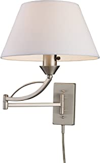 Elk 17016/1 Elysburg 1-Light Swing arm Sconce in Satin Nickel