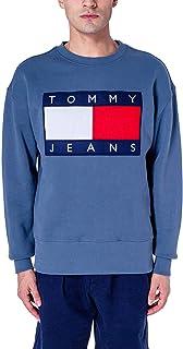 Tommy Jeans Men's Crew Neck Sweatshirt with Flag