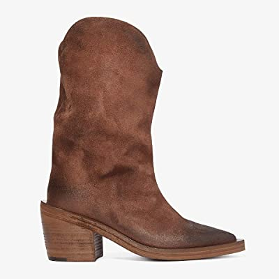 Marsell Tall Suede Western Style Boot (Medium Brown) Women