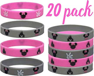 20 pcs Minnie Mouse Party Favors Wristband/Size Adult and Kids. (MinnieMouse, Kids)