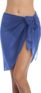 Hotouch Womens Sarong Swimsuit Cover Ups Beach Wrap Skirts Chiffon Cover Up for Swimwear S-XXL