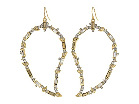 Alexis Bittar Crystal Baguette Paisley Wire Earrings