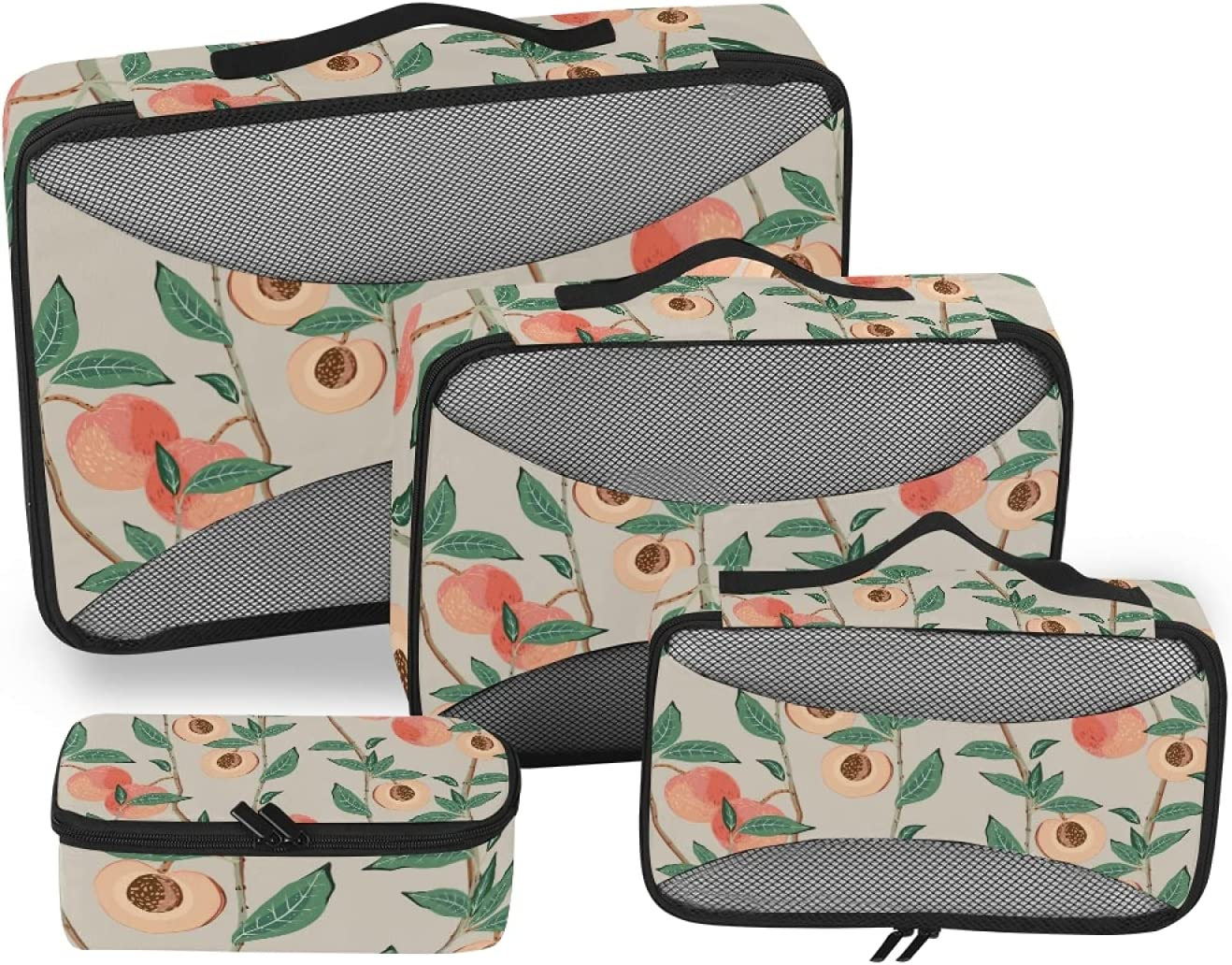 Peach Tree Branches Packing Storage Max 86% OFF 2021 A Bag Travel Organizer 4-Pcs