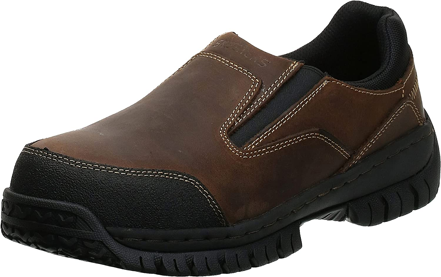 Skechers Animer and price 40% OFF Cheap Sale revision for Work Men's Hartan Shoe Toe Slip-On Steel