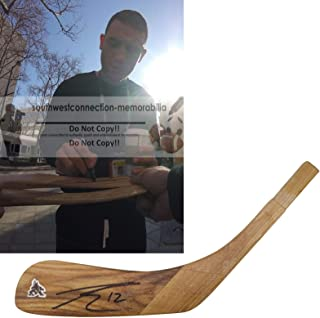 Paul Bissonnette Arizona Coyotes Autographed Hand Signed Phoenix Coyotes Logo Hockey Stick Blade with Exact Proof Photo of Signing and COA