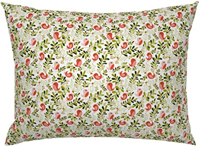 Rustic Pomegranate Cottage Chic Decor Fruit Floral Pillow Sham by Roostery
