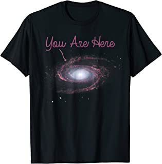 You Are Here Milky Way Galaxy Astronomy Funny Tees