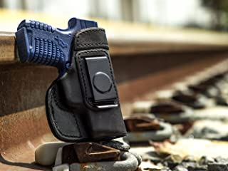 OutBags USA LS2XDS33 Full Grain Heavy Leather IWB Conceal Carry Gun Holster for Springfield Armory XDs 3.3