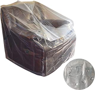 AKEfit Furniture Cover Plastic Bag Waterproof for Renovation, Moving Protection and Long Term Storage, Plastic Chair Cover Indoor/Outdoor Couch Cover