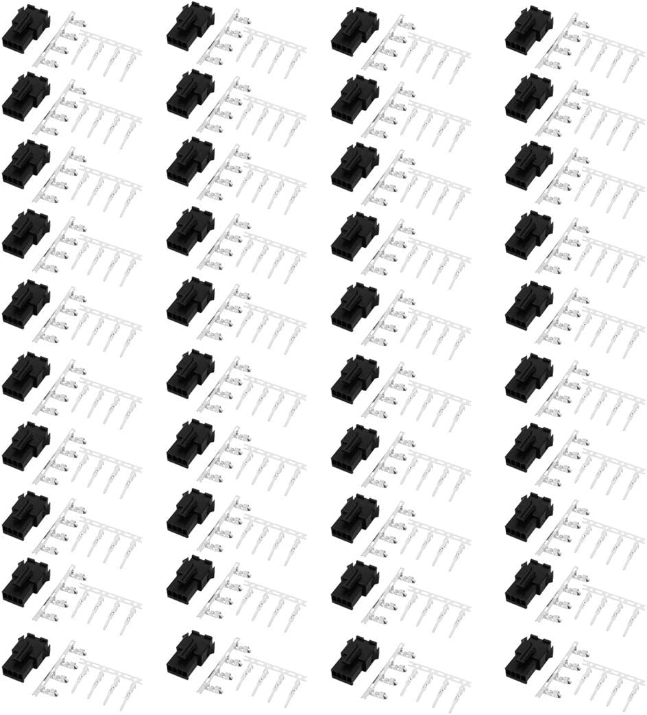 Aexit 20 Pairs Audio Video Accessories 2.54mm Max 78% OFF Fort Worth Mall Plastic 4P SM Ma