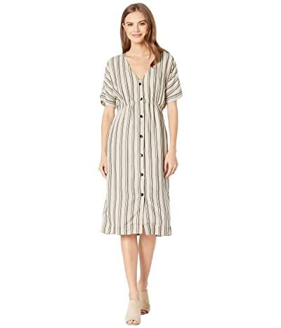 RVCA Smith Woven Midi Dress (Oatmeal) Women