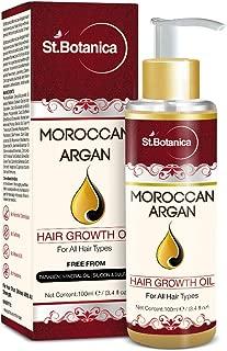 St.Botanica Moroccan Argan Hair Growth Oil (With Jojoba, Almond, Castor, Olive, Avocado, Rosemary)