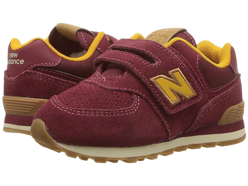 New Balance Kids IV574v1 (Infant/Toddler) (Mercury Red/Gold Rush) Kids Shoes