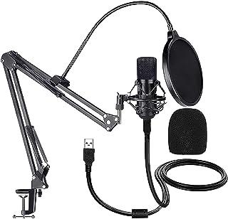 Sponsored Ad - USB Condenser Microphone, eirix 192KHZ/24Bit Plug&Play Streaming Podcast Cardioid Microphone Kit, USB Micro...