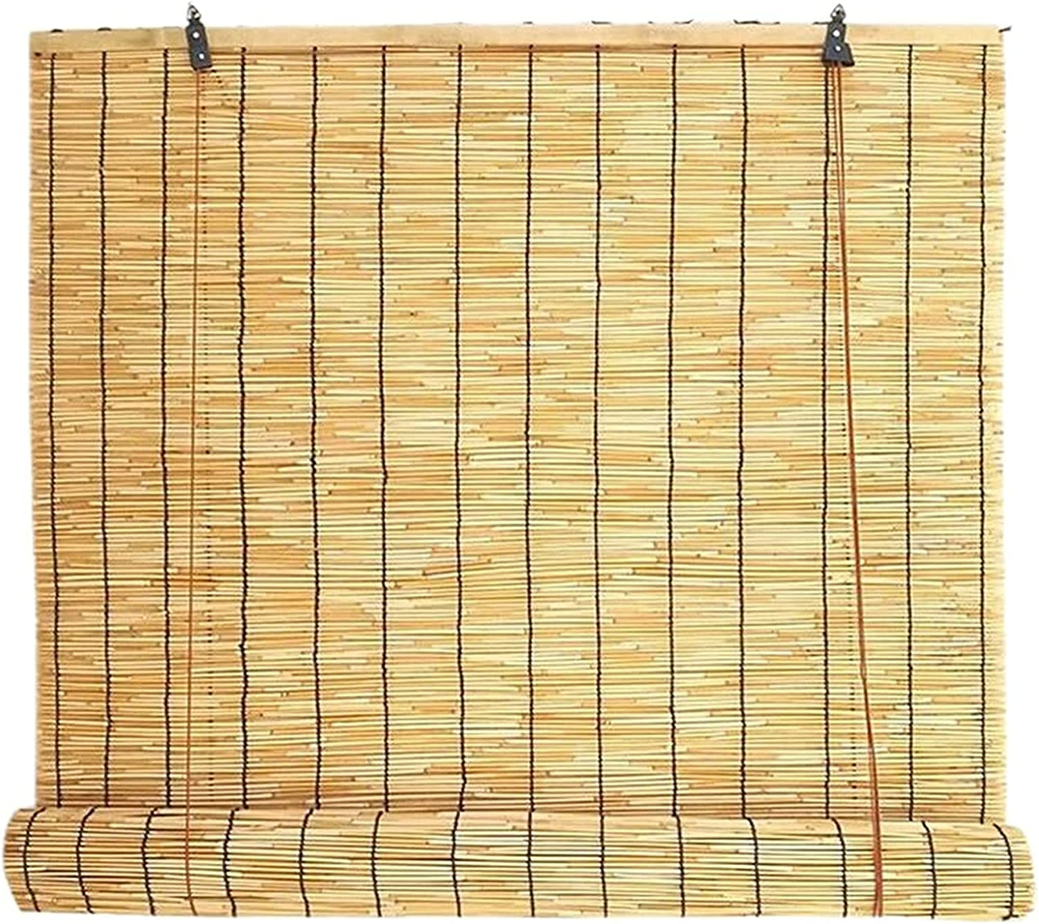 Limited time for free shipping DBXOKK Hand-Woven Natural Reed Curtains Blinds Roller wit OFFicial Bamboo