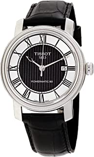 Tissot Men's Black&Silver Dial Color Leather Band Watch - T097.407.16.053.00, Analog Display