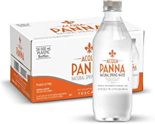 Acqua Panna Natural Spring Water, 16.9 Fl. Oz. Plastic Bottles, Pack of 24