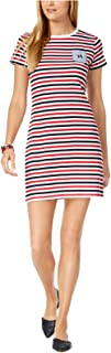 TOMMY HILFIGER Women's Cotton Striped Chambray-Pocket Dress