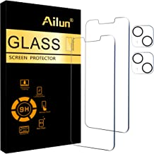 Ailun 2 Pack Screen Protector Compatible for iPhone 13 [6.1 inch Display]with 2 Pack Tempered Glass Camera Lens Protecto...