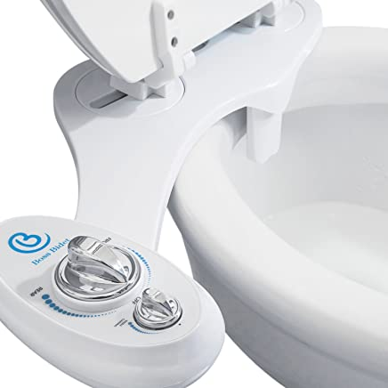 Boss Bidet Toilet Attachment | Cleans Your Tushy | Warranty - Lifetime | 30 Day Guarantee Dual Nozzle | Self Cleaning Feature | Water Sprayer | 15 Minute Installation | Luxury White & Blue