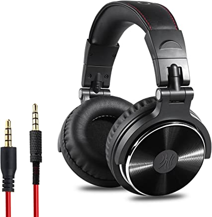 OneOdio Adapter-Free Closed Back Over-Ear DJ Stereo Monitor Headphones, Professional Studio Monitor & Mixing, Telescopic Arms with Scale, Newest 50mm Neodymium Drivers - Black