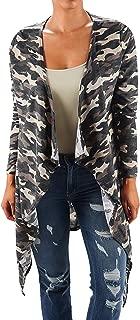 Plus Size Women Camo Black Kimono Braided Duster Cardigan Long Sweater