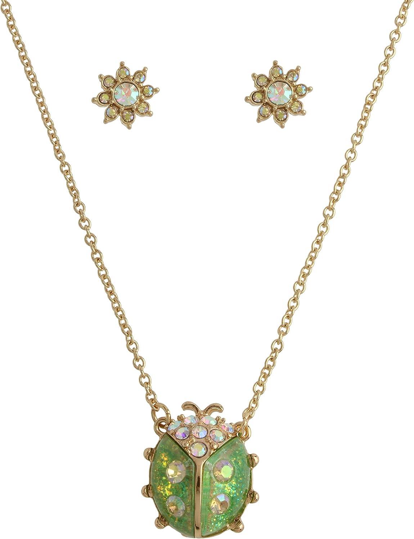 Betsey Johnson Ladybug 5 ☆ very popular Necklace Earrings Save money Set