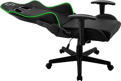 AIM silla gaming profesional, iluminación DNA RGB, reclinable 180º