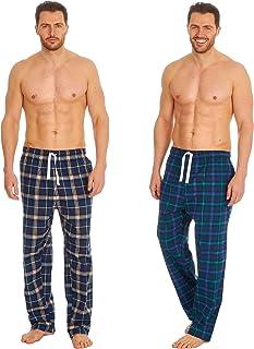 INSIGNIA Mens Woven Pyjamas Lounge Pants Bottoms Check (2 Pack)