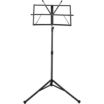 "Sheet Music Stand, Mugig Folding Music Stand, 29-50inch Height, 18x11"" Plate with Book Clips, Professional Collapsible Music Stand, Portable with Carry Bag, Suitable for Instrumental Performance"