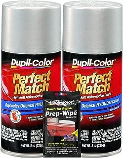 Dupli-Color Bright Silver (M) Exact-Match Automotive Paint - 8 oz, Bundles Prep Wipe (3 Items)