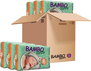 BAMBO® Baby Diapers - Size 0 - Premature - Fits 2.2 to 6.6 lbs - 24 Count (Pack of 1)