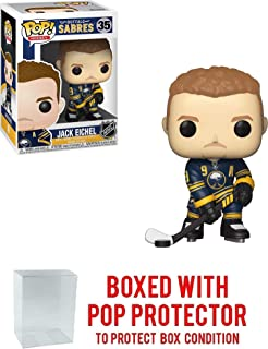 POP! Sports NHL Buffalo Sabres Jack Eichel #35 Action Figure (Bundled with Pop Box Protector to Protect Display Box)