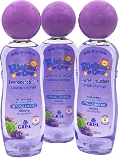 Ricitos de Oro Lavender Baby Shampoo, Children Cleansing Shampoo with Natural Lavender, Formulated for Babies, 3-Pack of ...