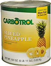 Carbotrol #10 Juice Packed Canned Fruit, Sliced Pineapple (1 - 107oz Can)