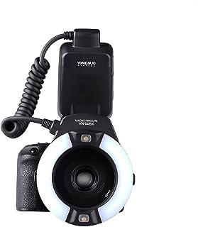 حلقة الفلاش من يونغنيو YN-14EX YN14EX مع محول للحلقة لكاميرا كانون EOS DLSR
